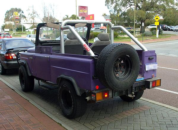 Purple 1978 Nissan Patrol G60