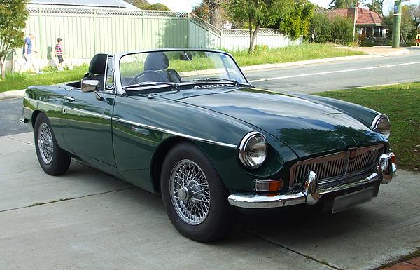 1966 MGB in British Racing Green