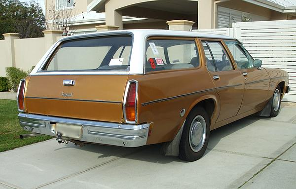 Holden HJ Kingswood Station Wagon. The golden Holden wagon.