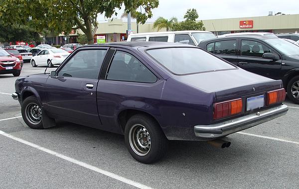 Purple Holden UC Torana hatchback