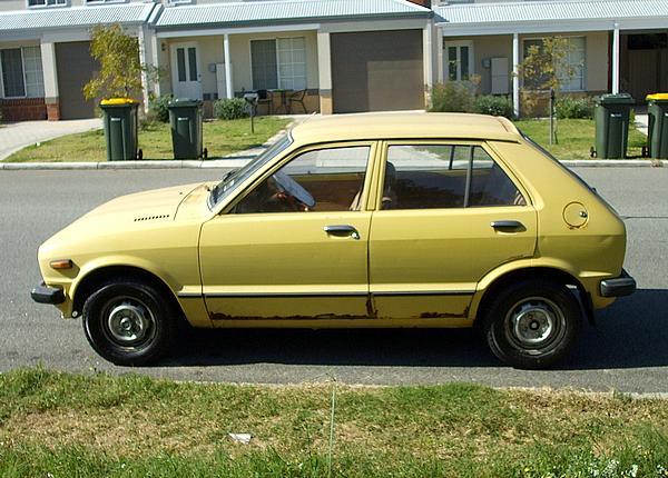 Yellow Daihatsu Charade G10