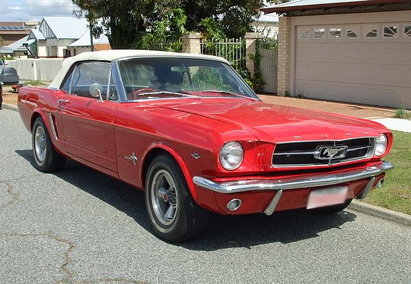 Red Mustang 289 Convertible