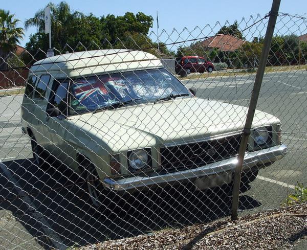Beige Holden HX Panel Van