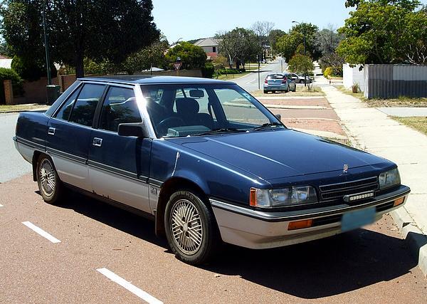 Blue & sliver Mitsubishi TP Magna Elite