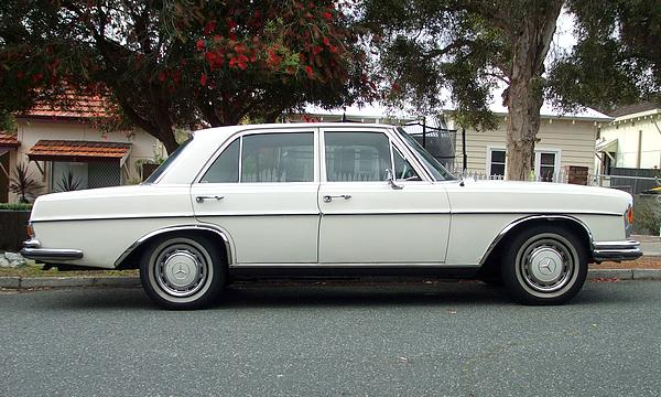 White 1969 Mercedes 280S Automatic