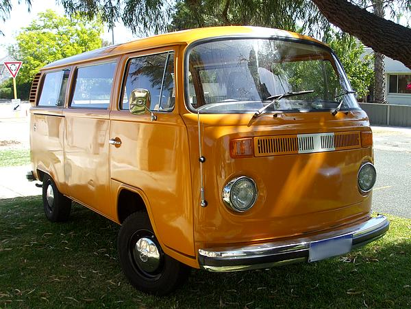 Orange VW Kombi