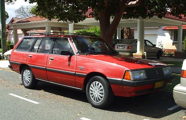 Red Mitsubishi GJ Sigma wagon 2.6