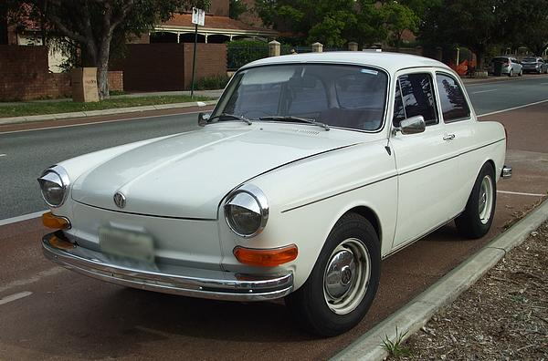 White VW 1600 Notchback