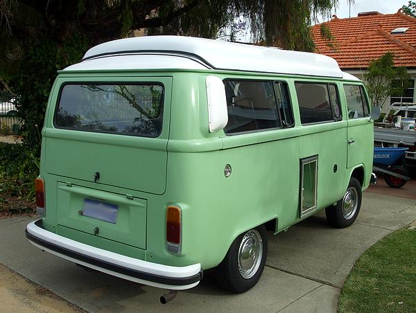 1974 green VW Kombi