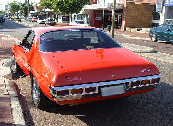 Red Holden 2 Door Monaro 350