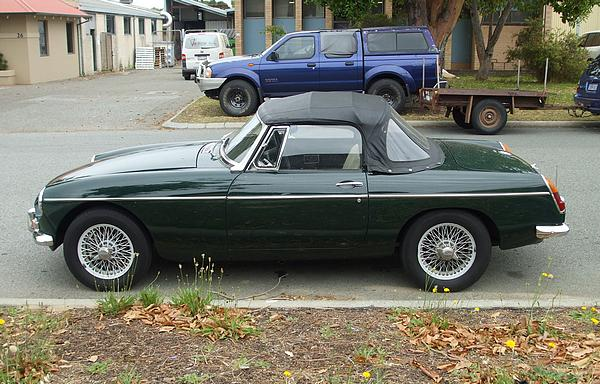 MGB in British Racing Green