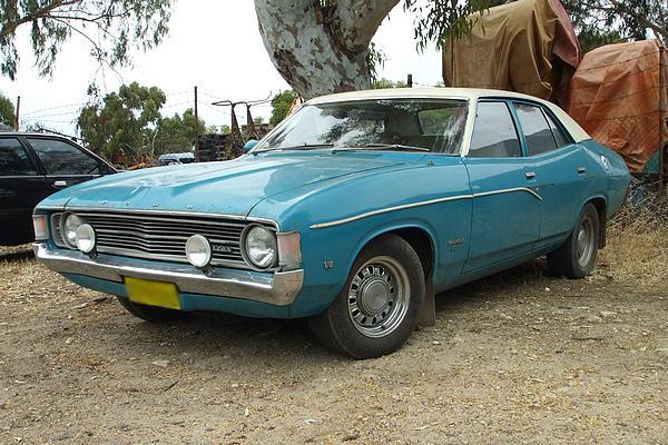Blue Ford XA Falcon 500 V8
