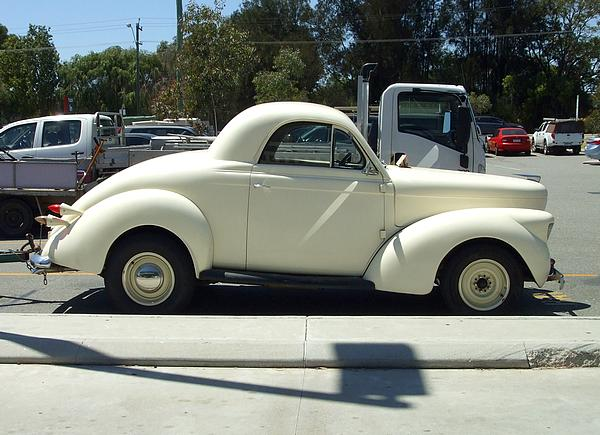 White 1939 Willys Coupe