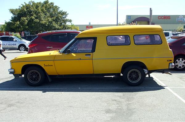 Yellow HX Holden Panelvan