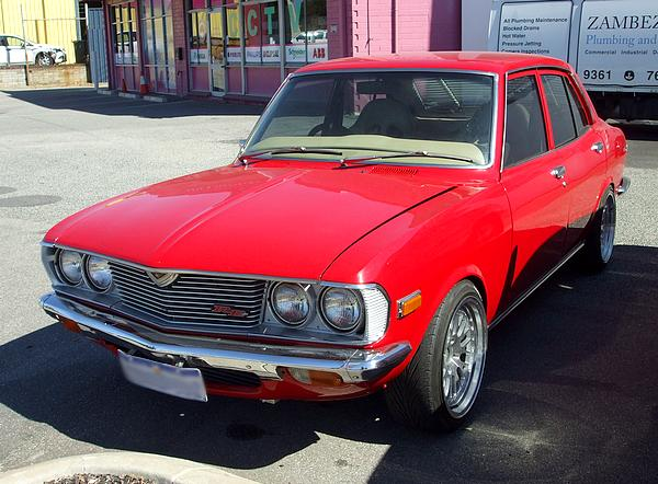 Mazda RX2. Rotary in red.