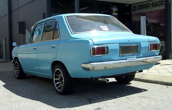Blue Datsun 1200