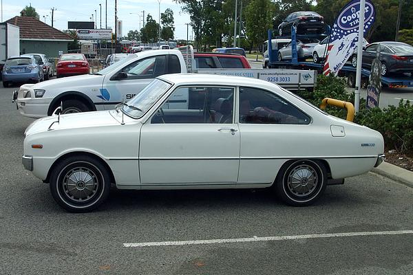 White Mazda 1200 Coupe