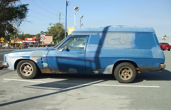 Blue Holden HZ Panel Van