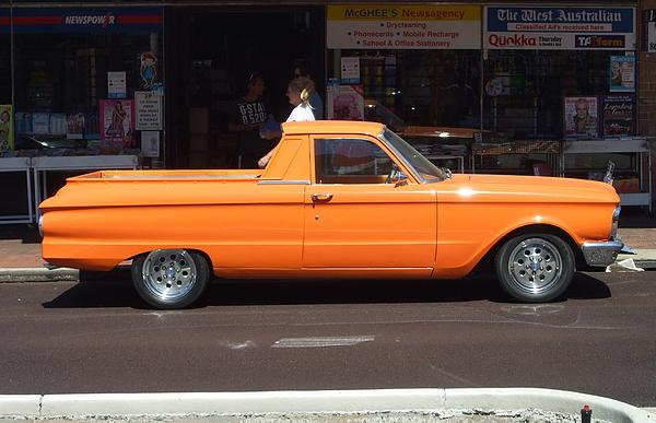 Orange XP Falcon ute