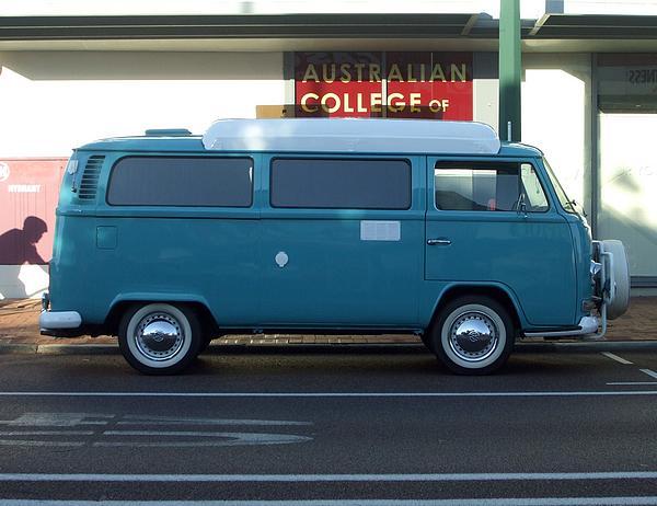Blue Volkswagen Kombi