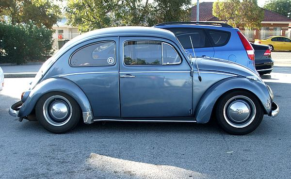 Blue 1996 VW Beetle