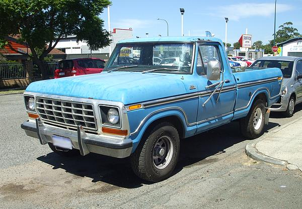 Blue Ford F100 Custom Pickup