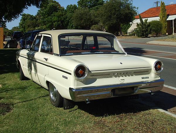 White Ford XP Falcon Sedan