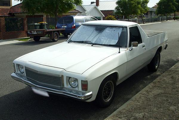 White HZ Holden Ute