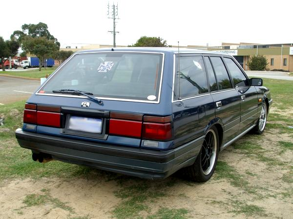 Blue Nissan R31 Skyline Wagon