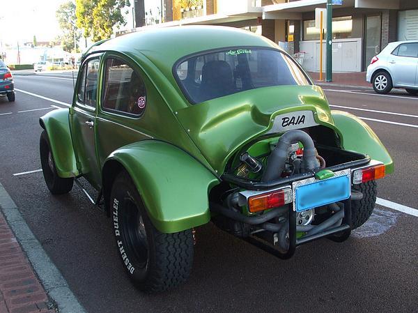 Green 1968 VW Baja