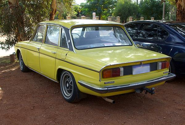 Yellow Triumph 2500S Saloon