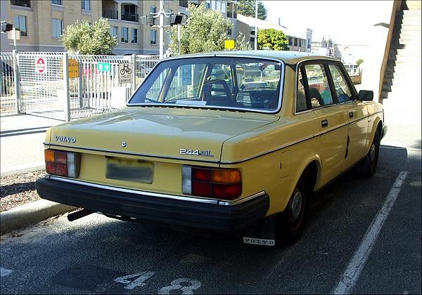 Yellow Volvo 244GL