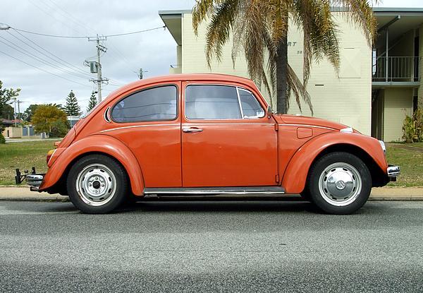Volkswagen Beetle 1300. High on orange.