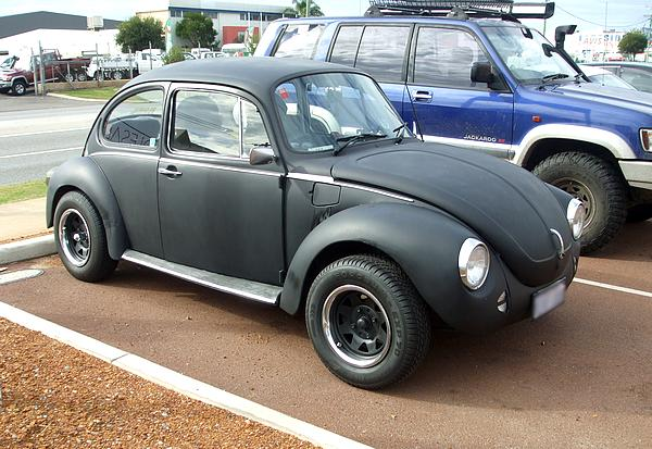 VW Beetle in flat black
