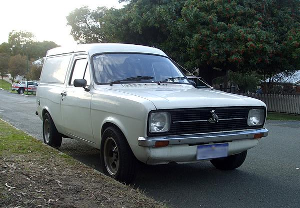 White Ford Escort MkII Panel Van