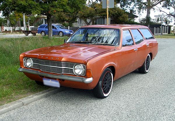 Orange Cortina TC Wagon.