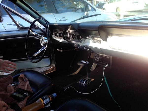Interior of 1966 Ford Mustang