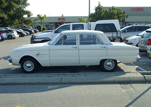 White Ford Falcon XL Sedan