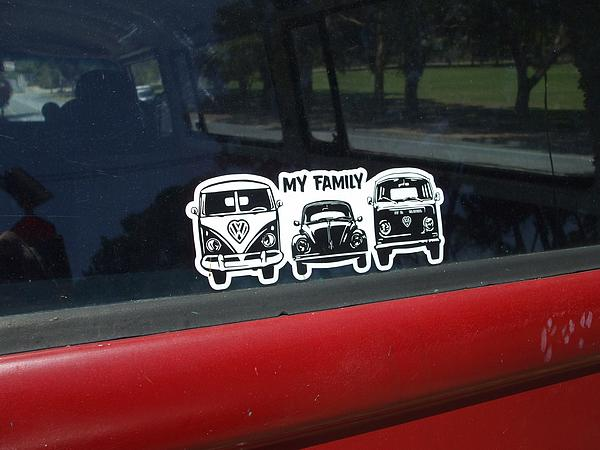 volkswagen stickers my family