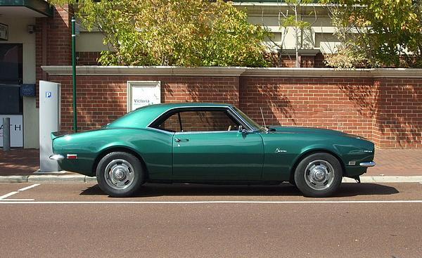 Green 1968 Camaro 350
