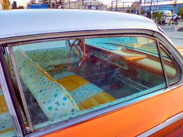 Orange 1962 Chev Bel Air Sport Coupe Bubble Top