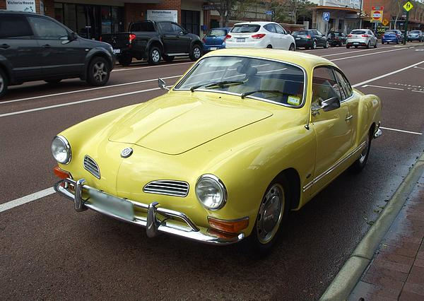 Yellow VW Karmann Ghia