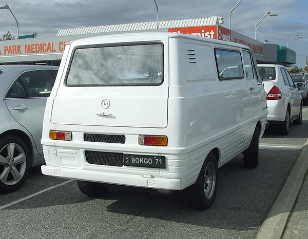 Mazda Bongo Van 1000. These are soooo cool.
